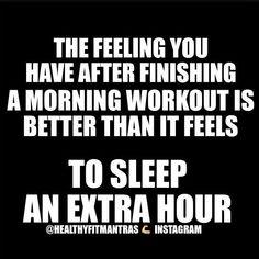 that morning workout feeling