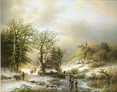 Barend Cornelis Koekkoek - Winterlandschap (3)