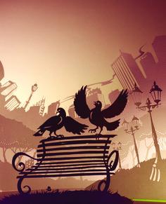 39.Pigeons in Hyde Park - Stuart McLachlan