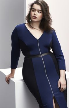 cf50fa9a77a The colorblocked sheath c o Prabal Gurung x Lane Bryant. Plus Size Designers
