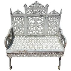 1stdibs.com   Cast Iron Bench signed Peter Timmes Son - Brooklyn NY