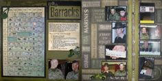 marine corps boot camp barracks two page scrapbook layout