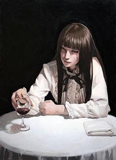 Supersonic Art: Takahiro Imai, Recent Paintings. Recent paintings. Kaori Anime, Character Inspiration, Character Art, Portrait Art, Portraits, Arte Obscura, Illustration Art, Illustrations, Creepy Art