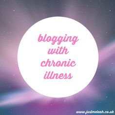 Just me, Leah. #Blogging with #chronicillness