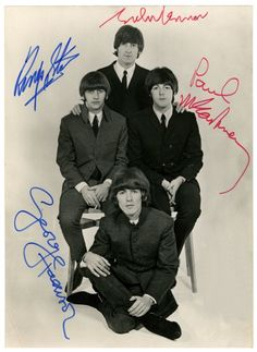 Beatles signed pic...