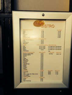 Old menu Coronation Street, Guinness, Bitter, Champagne, Alcohol, Menu, Rubbing Alcohol, Menu Board Design, Liquor