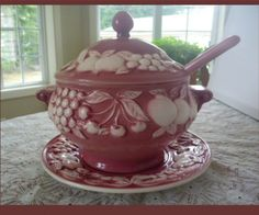 vintage tureens   VINTAGE SOUP TUREEN Portugal Ceramics