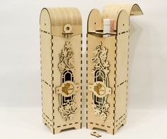 Wine box Wood wine box Plywood  wine box Laser cut vector