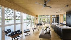 Cross-Laminated-Timber Cottage by Kariouk Associates