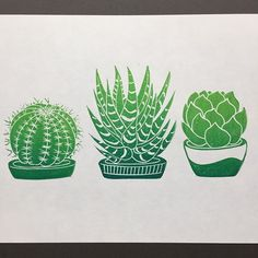 Second cactus and succulent linocut group test printed successfully. Just loving the colour of these. . . #linocut #linoprint #linoprinting #reliefprint #blockprinting #blockprint #printmaking #printmaker #green #cactus #cacti #succulents #plants #print #etsyuk #etsyseller