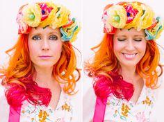 Tiffany Pratt (tiffanypratt.com) photographed by Tara McMullen (taramcmullen.com)  gorgeous red hair floral crown
