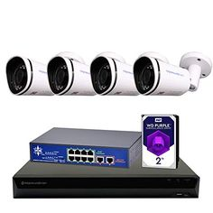 Morphxstar NVR POE Bullet Camera System Home Security Surveillance Ip Security Camera, Wireless Home Security Systems, Security Surveillance, Security Alarm, Surveillance System, Security Cameras For Home, Security Products, Ip Camera System, Home Monitoring System
