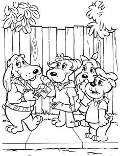 TimelessTrinkets.com Pound Puppy Coloring Pages