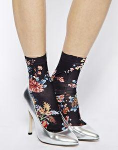 Emilio Cavallini Socks in Rose Print ASOS