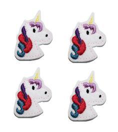 Four Mystical unicorn applique embellishment felties.