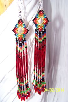 Native American Fringe Earrings by NavajoRainbowDesigns on Etsy, $28.00