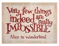 Alice in Wonderland Art Print  Collage by KatherineMottaDesign