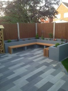 Outdoor room and bench backyard patio designs, yard design, small backyard landscaping, modern