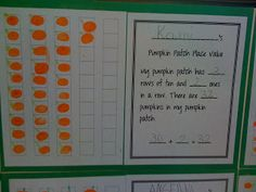 Bishop's Blackboard: A First Grade Blog Pumpkin Patch Place Value