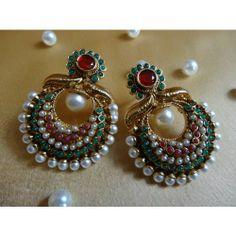 Online Shopping for Kundan Earrings | Earrings | Unique Indian Products by Dhaanya - MDHAA87448710860