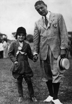 Jackie Kennedy with her father John Vernou Bouvier