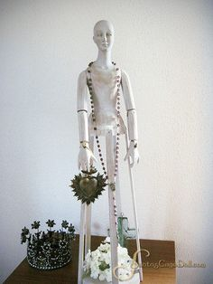 "SantosCageDoll.com — 31"" Whitewashed Santos Cage Doll"