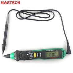 MASTECH MS8211D Pen Type Digital Multimeter AC DC 600V Voltmeter  Ammeter Tester Auto Range Test Lead Automotive Non-contact
