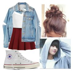 """Hangout with Bts Taehyung"" by pandagirl2102 ❤ liked on Polyvore featuring Sans Souci, Converse and Outstanding Ordinary"