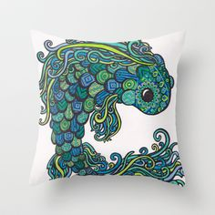 Buy Swish Fish by Emilie Darlington as a high quality Throw Pillow. Worldwide shipping available at Society6.com. Just one of millions of products…