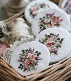 Wonderful Ribbon Embroidery Flowers by Hand Ideas. Enchanting Ribbon Embroidery Flowers by Hand Ideas. Brazilian Embroidery Stitches, Types Of Embroidery, Learn Embroidery, Rose Embroidery, Silk Ribbon Embroidery, Vintage Embroidery, Embroidery Thread, Embroidery Alphabet, Embroidery Designs