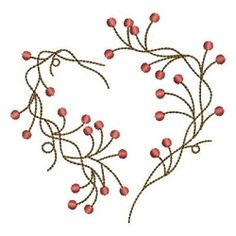 Folk Hearts 6 - 4x4 | Primitive | Machine Embroidery Designs | SWAKembroidery.com Ace Points Embroidery