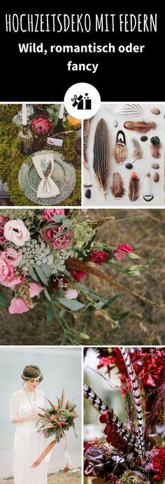 """Mit Federn wirkt einfach alles glamouröser und romantischer – das optimale Detail für Hochzeiten. Federn lassen sich in der Hochzeitsdeko überall integrieren bzw. durch das ganze Hochzeitskonzept ziehen – von der Einladung bis zum Brautstrauß. Wir zeigen Euch Ideen für verschiedene """"Federkonzepte"""". Fancy, Christmas Wreaths, Holiday Decor, Wedding Ideas, Home Decor, Invitations, Wedding, Feathers, Decorating Ideas"""