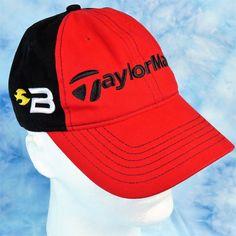 TaylorMade BURNER TMAX Golf Hat Red Black Adjustable Strapback Embroidered Cap #TaylorMade #BaseballCap