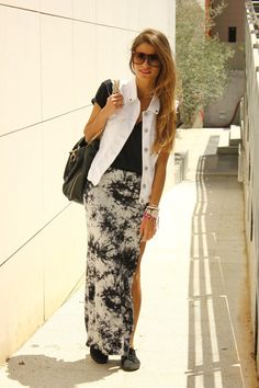 tie dye skirt - love it (not crazy about the rest of the ensemble but the skirt's cute)