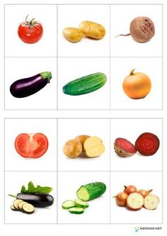 """Непоседы: Лото """"Овощи и фрукты"""" Fruit And Veg, Fruits And Vegetables, Activities For Kids, Crafts For Kids, Vegetable Pictures, Kids Education, Preschool, Healthy Eating, Healthy Recipes"""