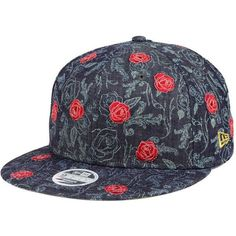 Disney Beauty And The Beast All Over Denim Rose 9FIFTY Snapback Cap ($28) ❤ liked on Polyvore featuring accessories, hats, disney snapback, snapback cap, disney hats, snapback hats and disney caps