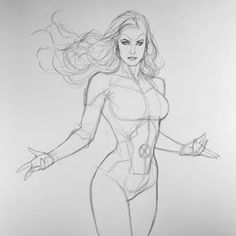 Jean Grey by Frank Cho Body Reference Drawing, Art Reference Poses, Body Drawing, Anatomy Reference, Anatomy Drawing, Anatomy Art, Body Anatomy, Character Sketches, Character Drawing