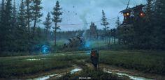 Long way, Vladimir Motsar on ArtStation at https://www.artstation.com/artwork/b8DdE