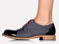 Brunello Cucinelli Denim Low Top Lace Up Derby Shoes Footwear Silicone Details - Womens 2014 Spring Summer Fashion Made in Denim Style Finds - Italy