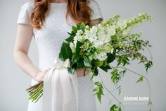 White and ivory, greenery bridal bouquet Jessica Wonders Events, Minneapolis, MN Wedding Bouquets, Wedding Dresses, Flower Bouquets, Flowers, Wedding Officiant, Floral Design, Wedding Planning, Presentation, Bridal