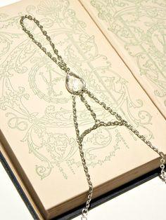 Crystal Slave Bracelet Bridal Jewelry by ContradictionsJC