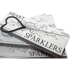 Heart Shaped Wedding Sparklers QTY 36. $24.99, via Etsy.