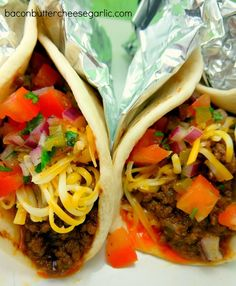 Soft Tacos with fresh Pico de Gallo...this recipe is a lot different than just cooking ground beef with taco seasoning. Darn tasty!