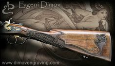 Influenced by art nouveau, Evgeni Dimov's gunstocks are classic European elegance with his own signature interpretation.