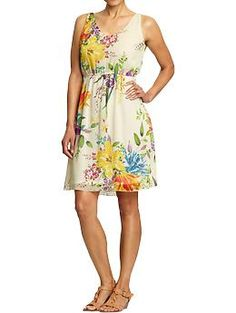 Old Navy large Floral Dress ~ would be cute for work with a cardigan.