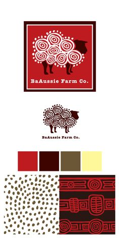 Logo Design for a Small Sheep Farm in Australia by Ryan LaLonde    Nice example of color and texture influence on a logo design.