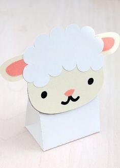 Sheep Treat & Favour Box. Printable PDF. $3.00: