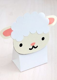 Sheep Treat & Favour Box. Printable PDF. $3.00: