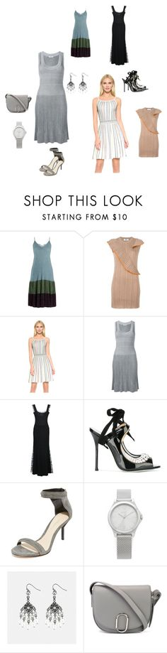 """Ribbed Knit Dress..**"" by yagna ❤ liked on Polyvore featuring RED Valentino, MSGM, M Missoni, Cacharel, ADAM, Giannico, 3.1 Phillip Lim, DKNY, Avenue and vintage"