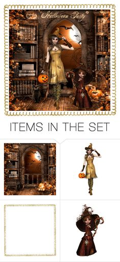 """Halloween Party. . ."" by ginamichelemoore ❤ liked on Polyvore featuring art"